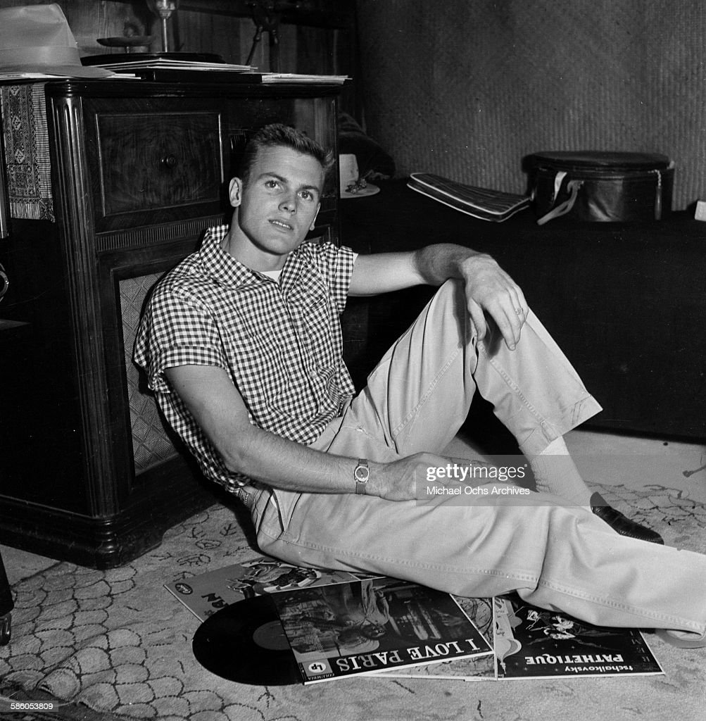 Actor Tab Hunter poses at home in Los Angeles, California.