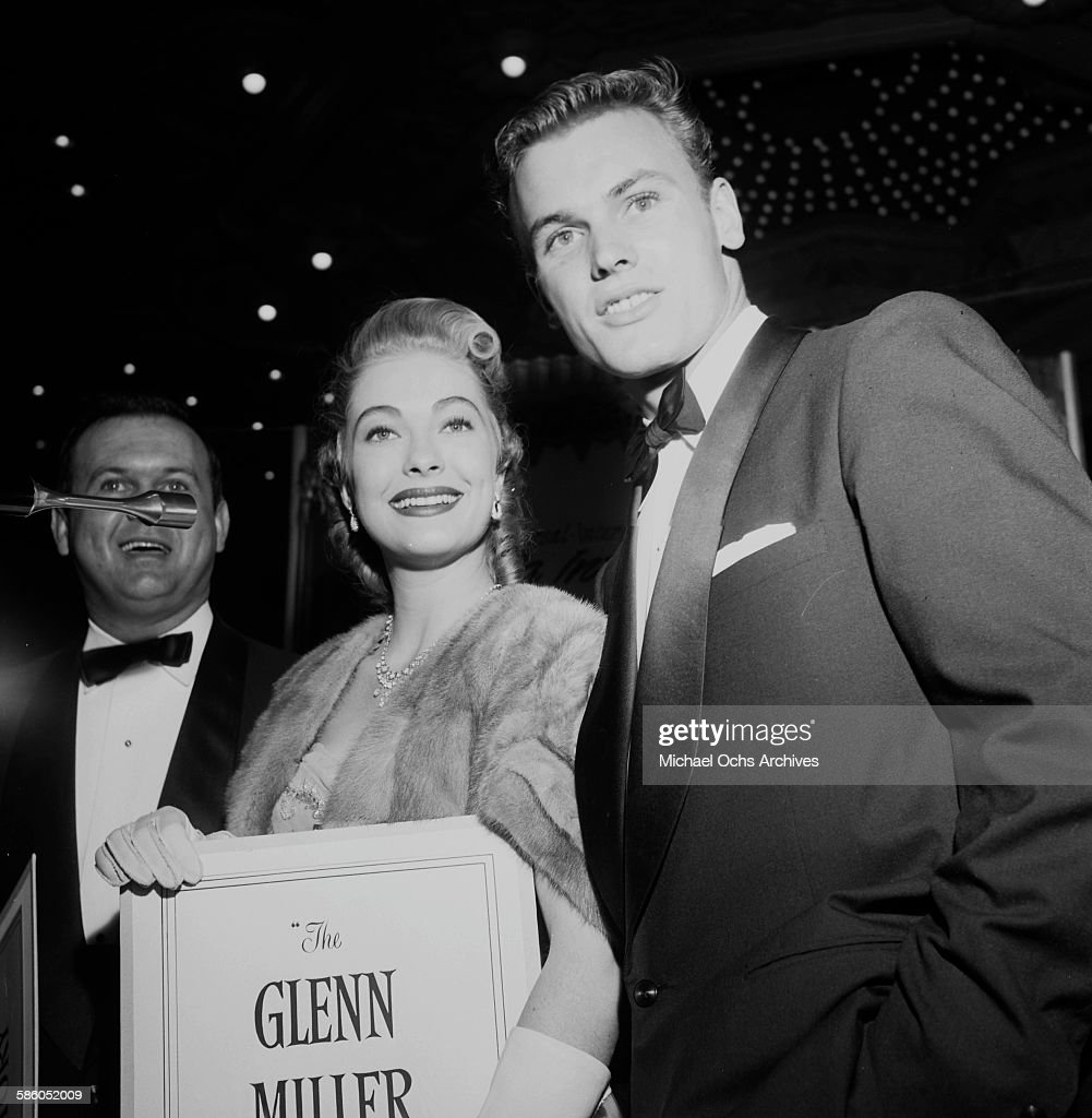 AT THE PREMIERE OF 'THE GLENN MILLER STORY,' 1953
