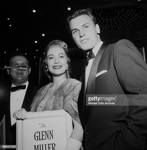 Actor Tab Hunter with guests attends the premiere to 'The Glen Miller Story' in Los Angeles California