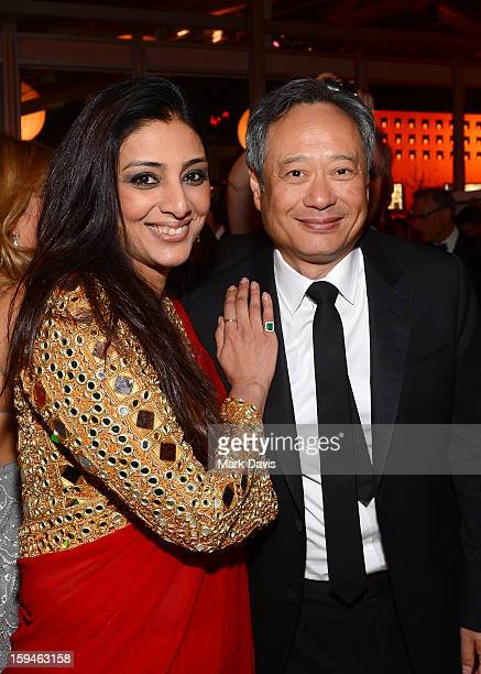 Actor Tabu and director Ang Lee attend the FOX After Party for the 70th Annual Golden Globe Awards held at The FOX Pavillion at The Beverly Hilton...