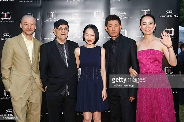 Actor Tadanobu Asano Sergi Losique of Motreal World Film Festival actors Eri Fukatsu Masatoshi Nagase and Naomi Kawase attend the Japan Day Project...