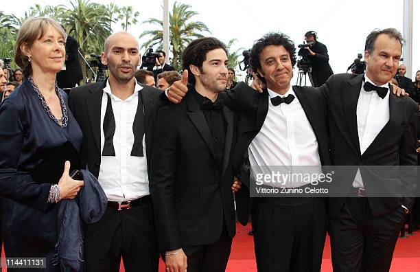 Actor Tahar Rahim and director Ismael Ferroukhi attend the The Skin I Live In premiere at the Palais des Festivals during the 64th Cannes Film...