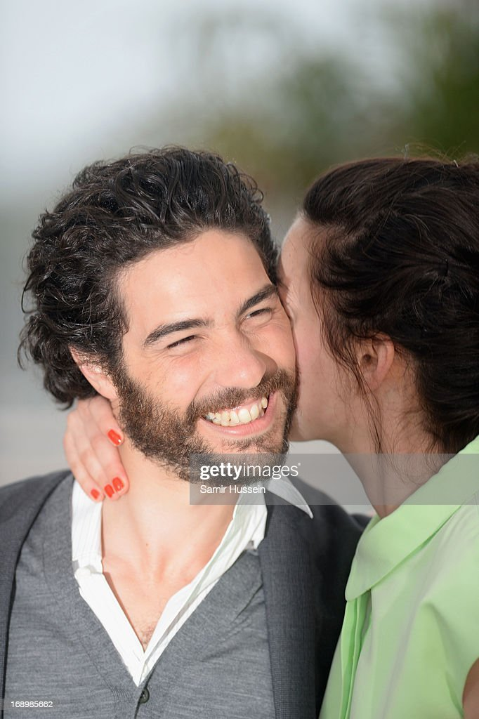Actor Tahar Rahim and Director Rebecca Zlotowski attend the 'Grand Central' Photocall during The 66th Annual Cannes Film Festival at Palais des Festivals on May 18, 2013 in Cannes, France.