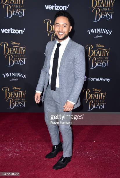 Actor Tahj Mowry attends Disney's 'Beauty and the Beast' premiere at El Capitan Theatre on March 2 2017 in Los Angeles California