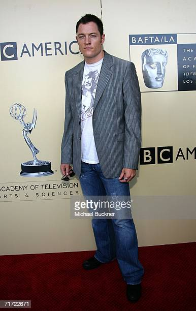 Actor Tahmoh Penikett arrives at the BAFTA/LAAcademy of Television Arts and Sciences Tea Party at the Century Hyatt on August 26 2006 in Century City...