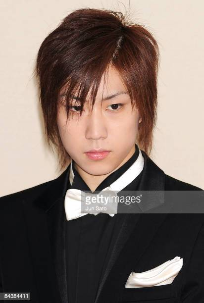 Actor Taichi Saotome attends the Forever Enthralled press conference at the Peninsula Tokyo on January 21 2008 in Tokyo Japan
