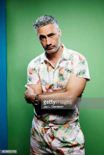 Actor Taika Waititi from the film 'Thor Ragnarok' is photographed in the LA Times photo studio at ComicCon 2017 in San Diego CA on July 22 2017...