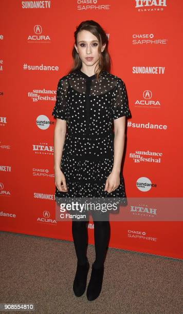 Actor Taissa Farmiga attends the 'What They Had' Premiere during the 2018 Sundance Film Festival at Eccles Center Theatre on January 21 2018 in Park...