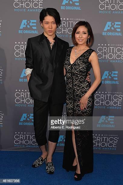 Actor Takamasa Ishihara and fashion designer/singer Melody Miyuki Ishikawa attend the 20th annual Critics' Choice Movie Awards at the Hollywood...