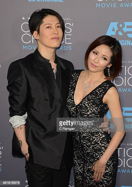 Actor Takamasa Ishihara and Melody Ishihara arrive to The 20th Annual Critics' Choice Movie Awards at Hollywood Palladium on January 15, 2015 in Los...