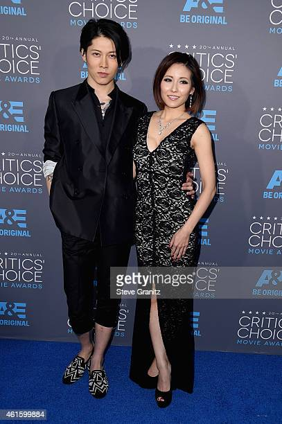 Actor Takamasa Ishihara and Melody Ishihara attend the 20th annual Critics' Choice Movie Awards at the Hollywood Palladium on January 15 2015 in Los...