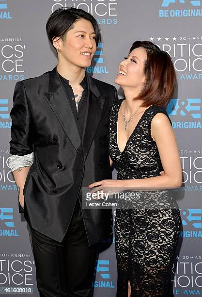 Actor Takamasa Ishihara and Melody Ishihara attend the 20th annual Critics' Choice Movie Awards at the Hollywood Palladium on January 15, 2015 in Los...