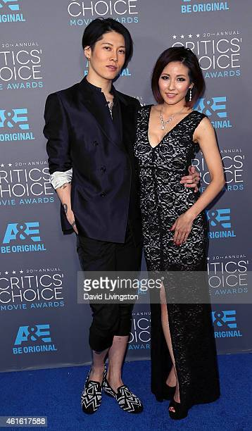 Actor Takamasa Ishihara and wife fashion designer/singer Melody Miyuki Ishikawa attend the 20th Annual Critics' Choice Movie Awards at the Palladium...