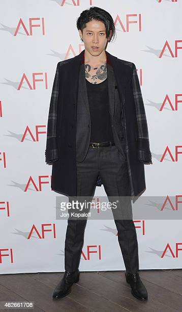 Actor Takamasa Ishihara arrives at the 15th Annual AFI Awards at Four Seasons Hotel Los Angeles at Beverly Hills on January 9 2015 in Beverly Hills...