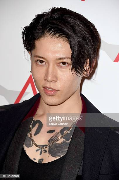 Actor Takamasa Ishihara attends the 15th Annual AFI Awards at Four Seasons Hotel Los Angeles at Beverly Hills on January 9, 2015 in Beverly Hills,...