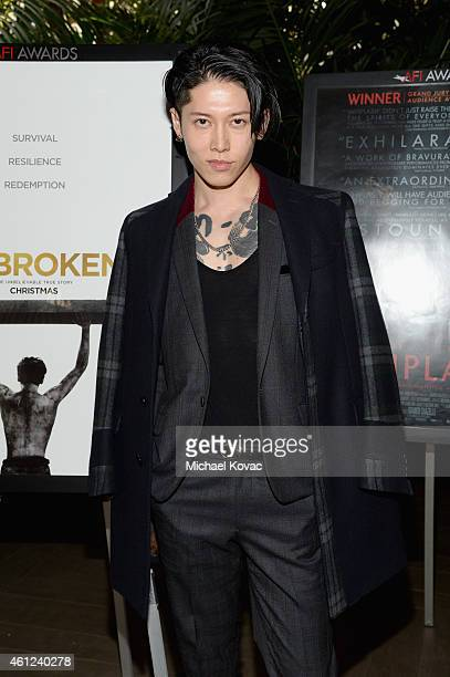 Actor Takamasa Ishihara attends the 15th Annual AFI Awards Luncheon at Four Seasons Hotel Los Angeles at Beverly Hills on January 9 2015 in Beverly...