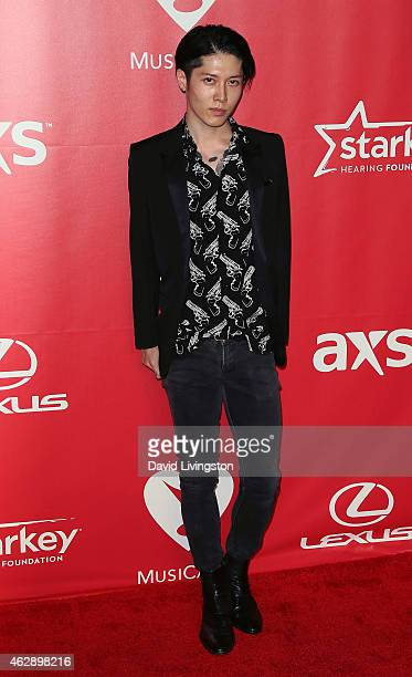 Actor Takamasa Ishihara attends the 2015 MusiCares Person of the Year Gala honoring Bob Dylan at the Los Angeles Convention Center on February 6 2015...