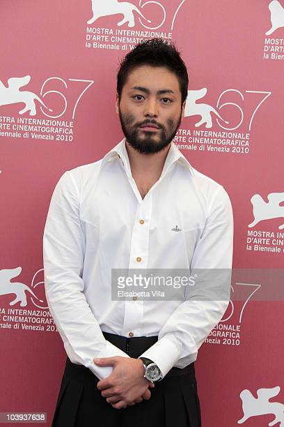 Actor Takayuki Yamada attends a photocall for '13 Assassins' during the 67th Venice Film Festival at the Palazzo del Casino on September 9 2010 in...