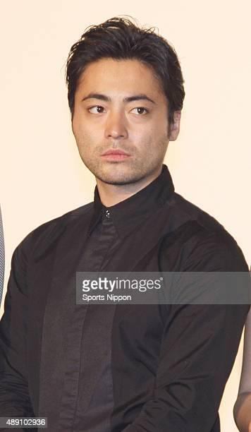 Actor Takayuki Yamada attends press conference of film 'Shinjuku Swan' on May 7 2015 in Tokyo Japan