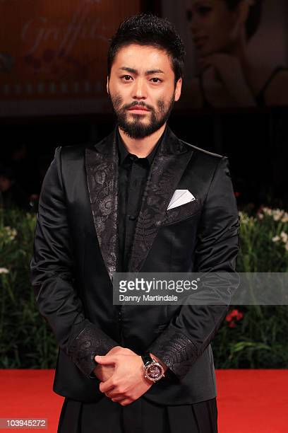 Actor Takayuki Yamada attends the '13 Assassins' premiere at the Palazzo del Cinema during the 67th Venice International Film Festival on September 9...