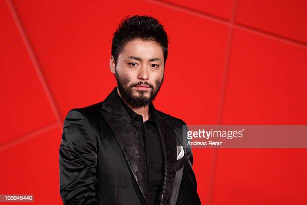 Actor Takayuki Yamada attends the '13 Assassins' Premiere during the 67th Venice Film Festival at the Sala Grande Palazzo Del Cinema on September 9...