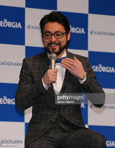 Actor Takayuki Yamada attends the CocaCola press conference on January 23 2014 in Tokyo Japan