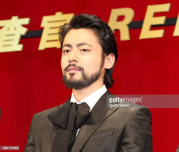 Actor Takayuki Yamada press conference of film 'Mogura no Uta' on January 20 2014 in Tokyo Japan