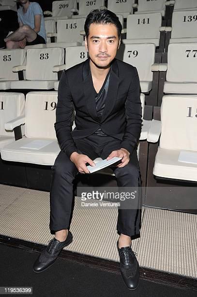 Actor Takeshi Kaneshiro attends the Emporio Armani fashion show as part of Milan Fashion Week Menswear Spring/Summer 2012 on June 19 2011 in Milan...