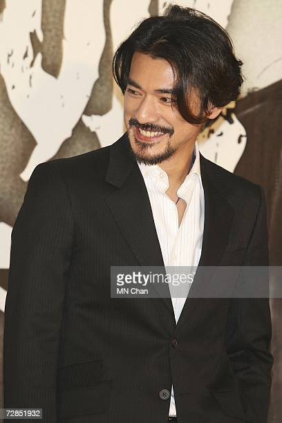 Actor Takeshi Kaneshiro attends the premiere of his new movie ' Confession of Pain' on December 19 2006 in Hong Kong China