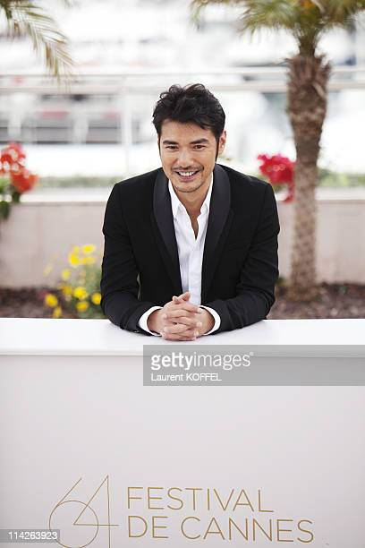 Actor Takeshi Kaneshiro attends the 'Wu Xia' Photocall at the Palais des Festivals during the 64th Cannes Film Festival on May 14 2011 in Cannes...