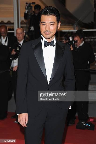 Actor Takeshi Kaneshiro attends the 'Wu Xia' Premiere during the 64th Annual Cannes Film Festival at the Palais des Festivals on May 13 2011 in...