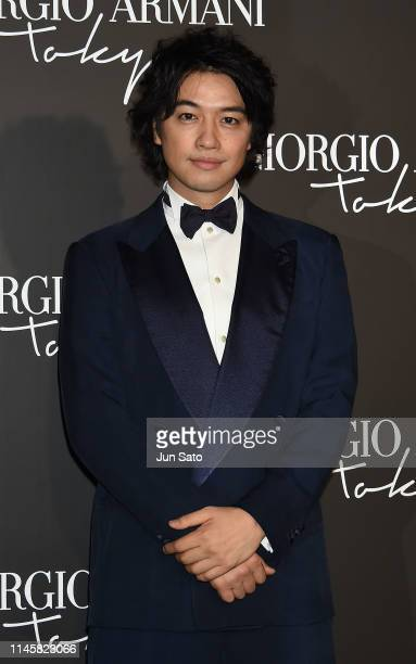 Actor Takumi Saito attends the Giorgio Armani 2020 Cruise Collection at the Tokyo National Museum on May 24 2019 in Tokyo Japan