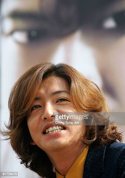 Actor Takuya Kimura attends the open talk 'I Come with the Rain' during the 14th Pusan International Film Festival at the Haeundae beach on October...