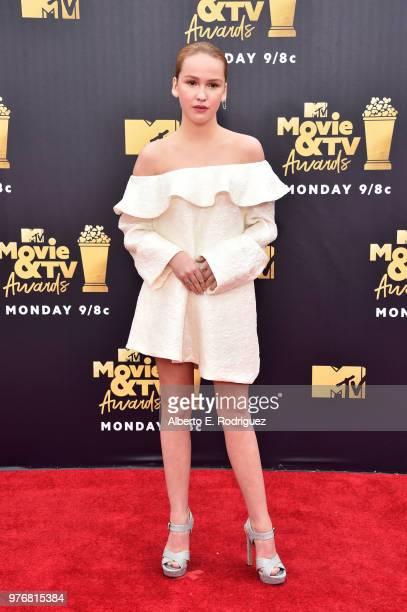 Actor Talitha Bateman attends the 2018 MTV Movie And TV Awards at Barker Hangar on June 16 2018 in Santa Monica California