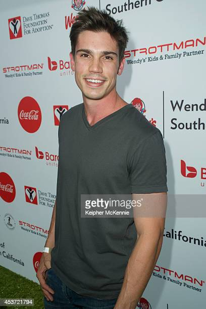Actor Tanner Novlan attends The Dave Thomas Foundation For Adoption's Kickball For A Home celebrity kickball game at University of Southern...