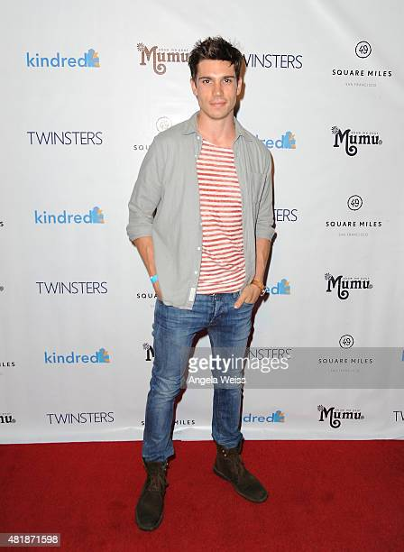 Actor Tanner Novlan attends Twinsters Los Angeles Premiere hosted by The Kindred Foundation for Adoption at Confession on July 24 2015 in Hollywood...