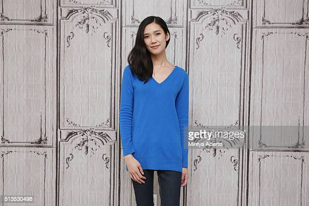 """Actor Tao Okamoto discusses her role of Mercy Graves in the upcoming film """"Batman v Superman"""" at AOL Studios in New York on March 3, 2016 in New York..."""