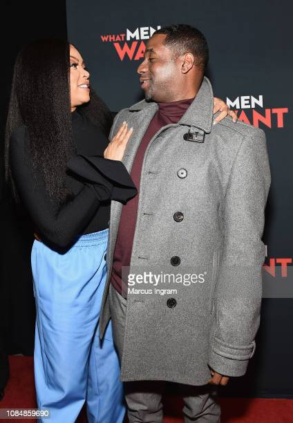 Actor Taraji P Henson and producer James Lopez atttend a special screening of 'What Men Want' at Regal Atlantic Station on January 18 2019 in Atlanta...