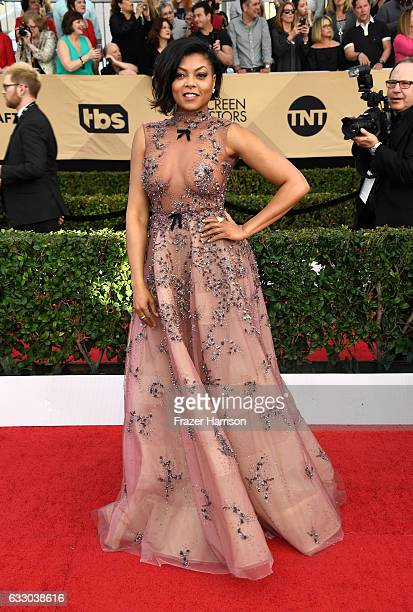 Actor Taraji P Henson attends The 23rd Annual Screen Actors Guild Awards at The Shrine Auditorium on January 29 2017 in Los Angeles California...