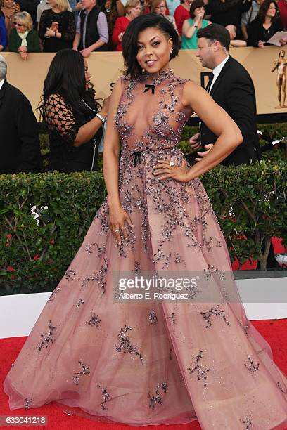 Actor Taraji P Henson attends the 23rd Annual Screen Actors Guild Awards at The Shrine Expo Hall on January 29 2017 in Los Angeles California