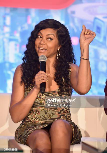 Actor Taraji P Henson attends the Global Press Conference for Disney's RALPH BREAKS THE INTERNET at The Beverly Hilton Hotel on November 3 2018 in...