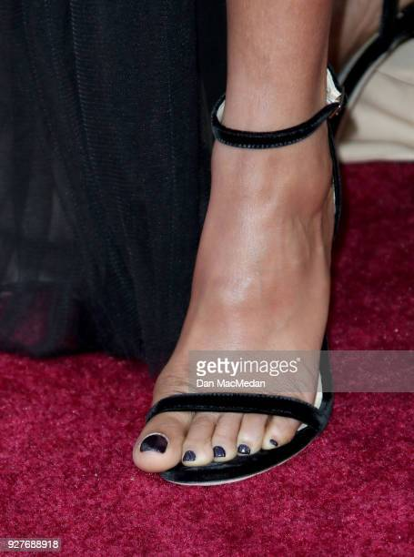 Actor Taraji P Henson shoe detail attends the 90th Annual Academy Awards at Hollywood Highland Center on March 4 2018 in Hollywood California