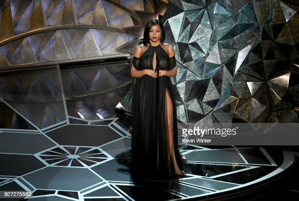 Actor Taraji P Henson speaks onstage during the 90th Annual Academy Awards at the Dolby Theatre at Hollywood Highland Center on March 4 2018 in...