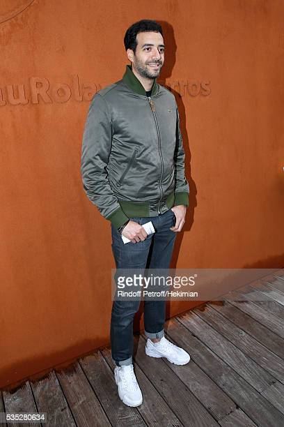 Actor Tarek Boudali attends Day Height of the 2016 French Tennis Open at Roland Garros on May 29 2016 in Paris France