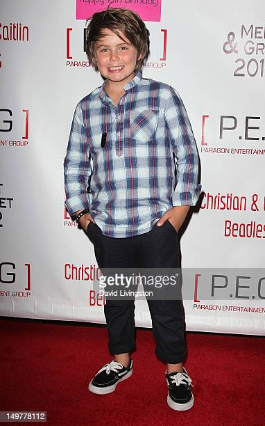 Actor Tarik Ellinger attends Caitlin Beadles 18th birthday and launch of Caitlin's Vine of Bravery charity at Rubix Hollywood on August 3 2012 in...