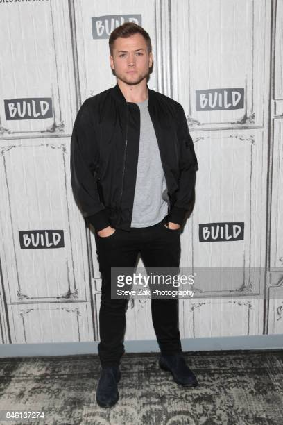 Actor Taron Egerton attends Build Series to discuss his new film Kingsman The Golden Circleat Build Studio on September 12 2017 in New York City