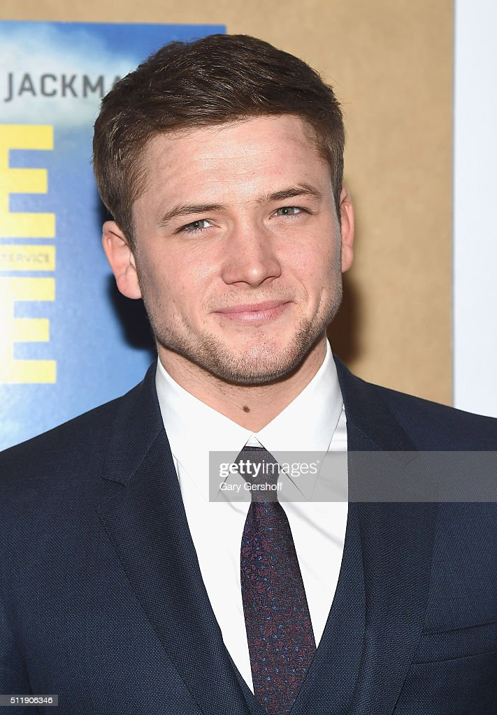Actor Taron Egerton attends the 'Eddie The Eagle' New York screening at Chelsea Bow Tie Cinemas on February 23, 2016 in New York City.