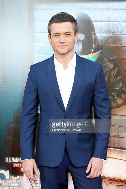 Actor Taron Egerton attends the premiere Of Universal Pictures' 'Sing' on December 3 2016 in Los Angeles California