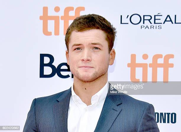 Actor Taron Egerton attends the Sing premiere during the 2016 Toronto International Film Festival at Princess of Wales Theatre on September 11 2016...