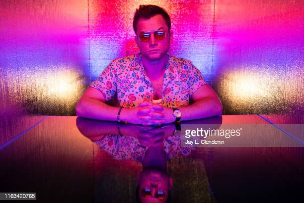 Actor Taron Egerton from 'The Dark Crystal: Age of Resistance' is photographed for Los Angeles Times at Comic-Con International on July 19, 2019 in...